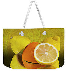 Oranges And Lemons Weekender Tote Bag by Shirley Mangini