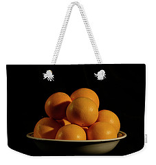 Weekender Tote Bag featuring the photograph Oranges by Angie Tirado
