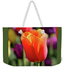 Orange Tulip Square Weekender Tote Bag