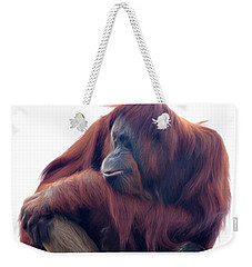 Orangutan - Color Version Weekender Tote Bag by Lana Trussell