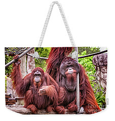 Orangutan Couple Weekender Tote Bag