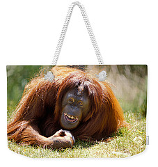 Orangutan In The Grass Weekender Tote Bag