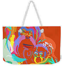 Orangutan Mom And Baby Weekender Tote Bag