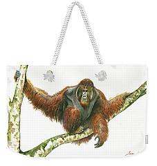 Orangutang Weekender Tote Bag by Juan Bosco