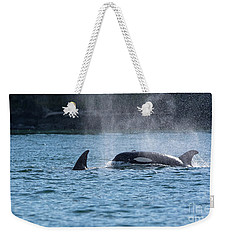 Orca Blowing Weekender Tote Bag