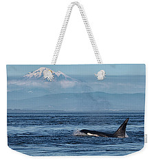 Orca Male With Mt Baker Weekender Tote Bag