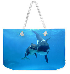 Orca Orcinus Orca Mother And Newborn Weekender Tote Bag