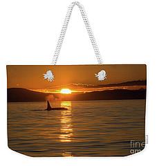 Orca Sunset Weekender Tote Bag