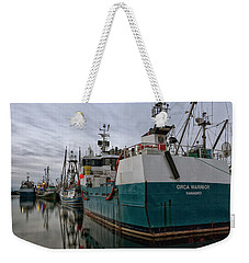 Weekender Tote Bag featuring the photograph Orca Warrior by Randy Hall