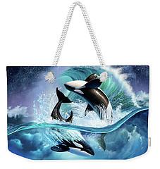 Orca Wave Weekender Tote Bag by Jerry LoFaro