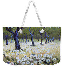 Orchard With Dandelions Weekender Tote Bag by Irek Szelag