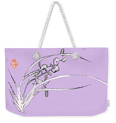 Orchid - 5 Bai-miao In Light Purple Weekender Tote Bag