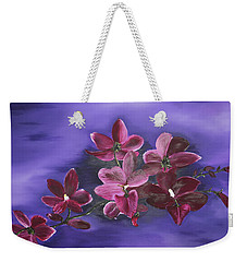 Orchid Blossoms On A Stem Weekender Tote Bag