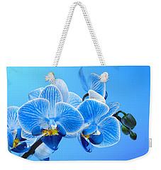Orchid Blue Weekender Tote Bag by Mark Rogan