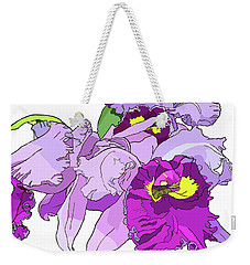 Orchid Cluster Weekender Tote Bag by Jamie Downs