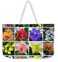 Orchid Collage Weekender Tote Bag
