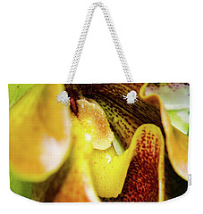 Orchid Faces Weekender Tote Bag