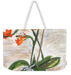 Weekender Tote Bag featuring the painting Orchid by Jamie Frier