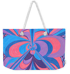 Weekender Tote Bag featuring the drawing Orchid by Kim Sy Ok