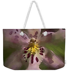 Weekender Tote Bag featuring the photograph Orchid Mysterious by Richard Goldman
