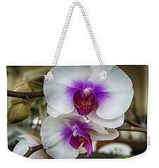 Weekender Tote Bag featuring the photograph Orchid Stems by Judy Hall-Folde