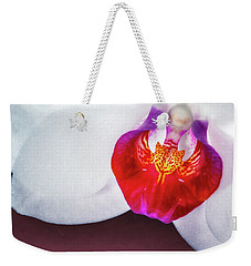 Orchid Up Close Weekender Tote Bag