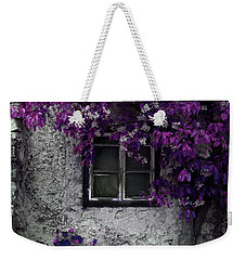 Orchid Vines Window And Gray Stone Weekender Tote Bag