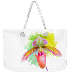 Orchid Whimsy Weekender Tote Bag