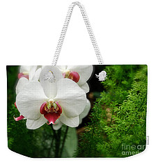Weekender Tote Bag featuring the photograph Orchid White by Brian Jones