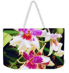 Weekender Tote Bag featuring the painting Orchids 1 by Sandy MacGowan