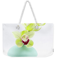 Orchids In Blue Jar Weekender Tote Bag