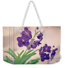 Orchids In Purple  Weekender Tote Bag by Ana V Ramirez