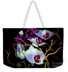 Weekender Tote Bag featuring the photograph Orchids In Water Color by Diana Mary Sharpton