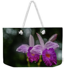 Orchids Love The Rain Weekender Tote Bag by Jocelyn Kahawai