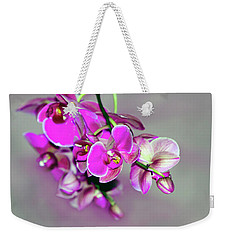 Orchids On Gray Weekender Tote Bag