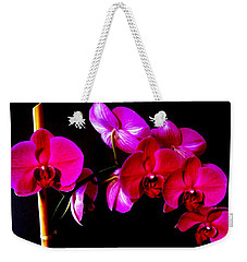 Orchids Weekender Tote Bag by Ron Davidson