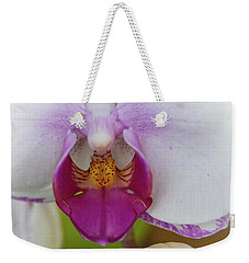 Weekender Tote Bag featuring the photograph Orchids Up Close by Judy Hall-Folde