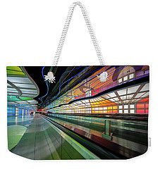 Illuminated Underpass, Chicago Airport Weekender Tote Bag