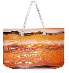 Weekender Tote Bag featuring the painting Orders To The Morning by Winsome Gunning