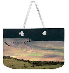 Weekender Tote Bag featuring the photograph Oregon Canyon Mountain Layers by Leland D Howard