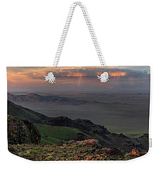 Weekender Tote Bag featuring the photograph Oregon Canyon Mountain Views by Leland D Howard