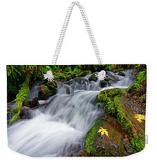 Weekender Tote Bag featuring the photograph Oregon Cascade by Jonathan Davison
