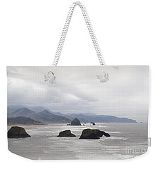 Oregon Coast Mountain Clouds Landscape Weekender Tote Bag by Andrea Hazel Ihlefeld