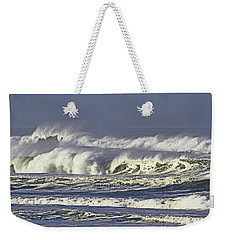 Oregon Coast Waves On A Windy Morning Weekender Tote Bag