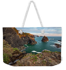 Weekender Tote Bag featuring the photograph Oregon Coastal Scenic by Leland D Howard