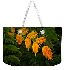 Oregon Grape Autumn Weekender Tote Bag by Mary Jo Allen