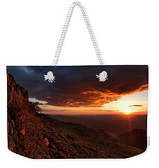 Weekender Tote Bag featuring the photograph Oregon Mountains Sunrise by Leland D Howard