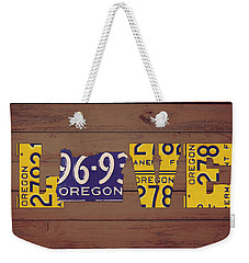 Oregon State Love Heart License Plates Art Phrase Weekender Tote Bag
