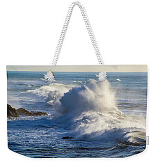 Weekender Tote Bag featuring the photograph Oregon Surf by Dennis Bucklin
