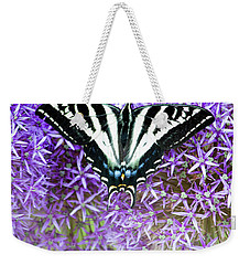 Weekender Tote Bag featuring the photograph Oregon Swallowtail by Bonnie Bruno